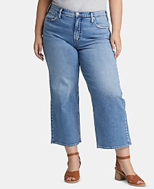 Silver Jeans Co. Trendy Plus Size Cropped Wide-Leg Jeans
