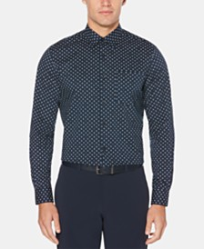 Perry Ellis Men's Stretch Micro-Geo Print Shirt