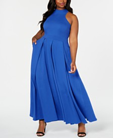 Rebdolls X-Neckline Skater Maxi Gown by The Workshop at Macy's, Regular & Plus Sizes
