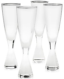 Hotel Collection Plateau Champagne Glasses, Set of 4, Created for Macy's