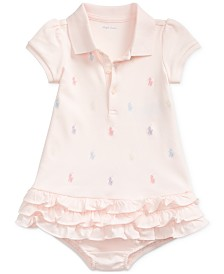 Ralph Lauren Baby Girls Embroidered Polo Dress