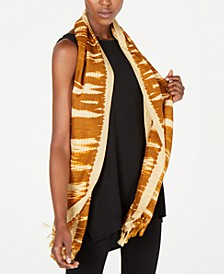 Silk Fringe-Trim Wrap Scarf