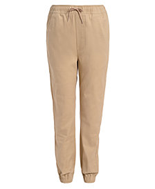 Nautica Big Boys Husky Evan Tapered-Fit Stretch Joggers with Reinforced Knees