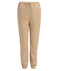 Nautica Big Boys Evan Tapered-Fit Stretch Joggers with Reinforced Knees
