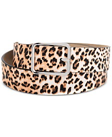I.N.C. Leopard-Print Belt, Created for Macy's