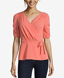 JohnPaulRichard Solid Wrap Top