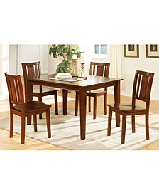 Decorous Rubber Wood 5 Pieces Dining Set