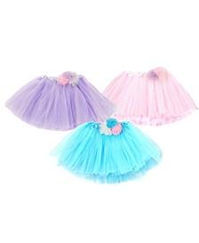 One Size Girls Multi Flower Tutu Skirts Set Of 3