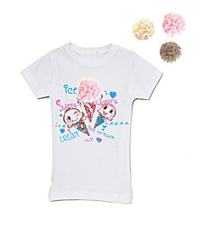 Little and Big Girls Interchangeable 3D Ice Cream Top