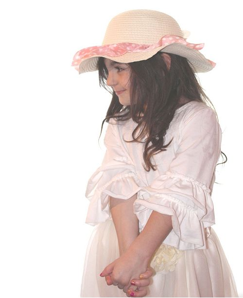 Macys Furniture Outlet Michigan: Mi Amore Gigi One Size Girls Sun Hat With Attached Cream