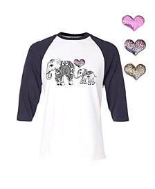 Interchangeable Heart 3D Graphic Elephant Top