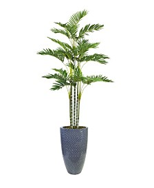 "Laura Ashley 89.5"" Tall Palm Tree Artificial Faux decor in Resin Planter"