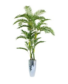 "Laura Ashley 93.5"" Palm Tree Artificial Faux decor in Resin Planter"