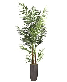 "Laura Ashley 90.2"" Palm Tree Artificial Faux decor in Resin Planter"