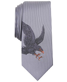 I.N.C. Men's Skinny Flying Eagle Tie, Created for Macy's