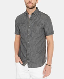 Buffalo David Bitton Men's Saroan Denim Snap Shirt