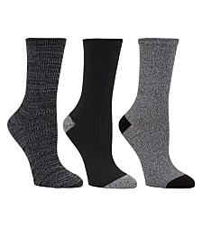 Cuddl Duds Women's 3pk Mid-Weight Crew Cut Socks, Online Only
