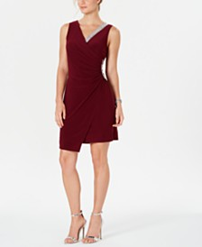 MSK Asymmetrical Embellished Dress