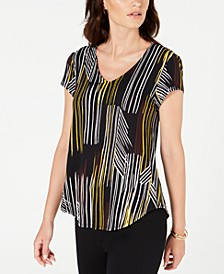 Printed V-Neck T-Shirt, Created by Macy's
