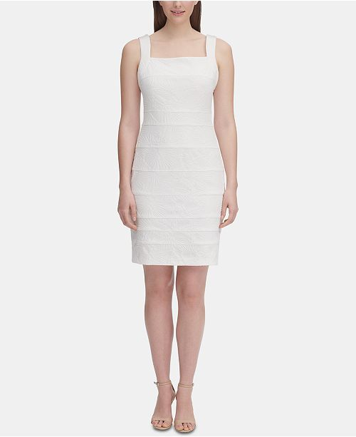 Tommy Hilfiger Embroidered Sheath Dress