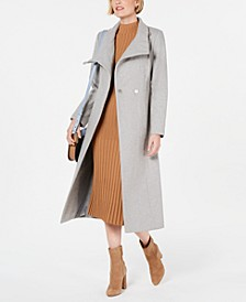 Asymmetrical Belted Maxi Coat