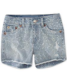 Levi's® Little Girls Colorblocked Zipper Shorts