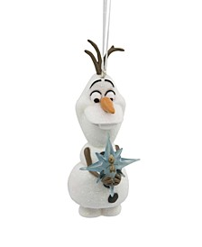 Disney Frozen Olaf With Star Christmas Ornament