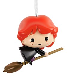 Harry Potter, Ron on Broomstick Christmas Ornament