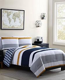 Indigo 3 Piece King Comforter Set