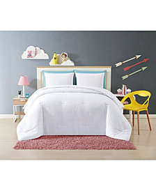 My World Rainbow Clipped Dot 3 Piece Full/Queen Comforter Set