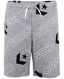 Converse Big Boys Wordmark Logo-Print Drawstring Shorts