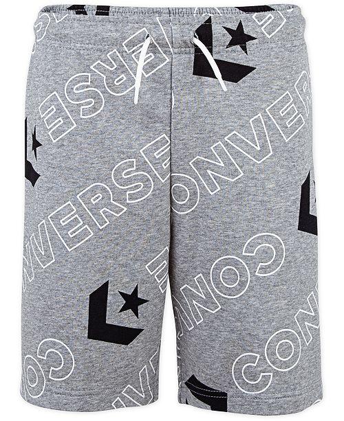 Converse Big Boys Wordmark Logo-Print Drawstring Shorts