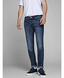 Men's Comfort Fit Dark Blue Jeans
