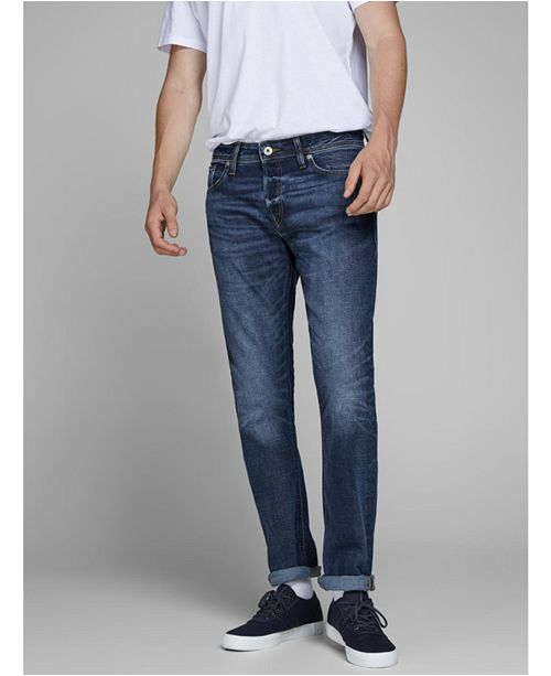 Jack & Jones Men's Comfort Fit Dark Blue Jeans