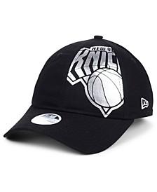 Women's New York Knicks Foil Script Hook 9TWENTY Strapback Cap