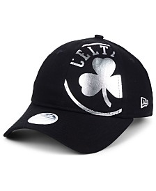 New Era Women's Boston Celtics Foil Script Hook 9TWENTY Strapback Cap