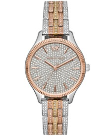 Michael Kors Women's Lexington Tri-Tone Stainless Steel Bracelet Watch 36mm