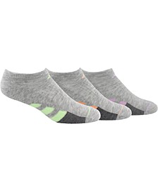 3-Pk. Cushioned No-Show Women's Socks