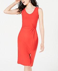 Juniors' Knot-Front Midi Dress