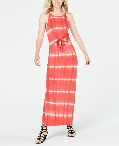 Ultra Flirt Juniors' Tie-Dye Maxi Dress