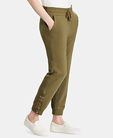 Lauren Ralph Lauren Lace-Up Cotton Jogger Pants