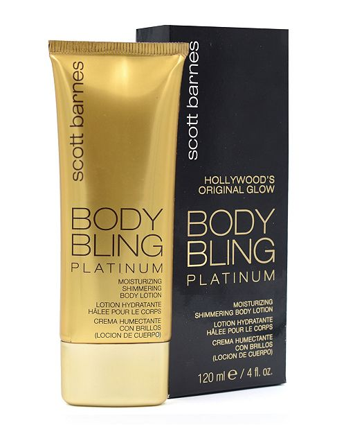 Scott Barnes Body Bling Shimmering Lotion Platinum 4 fl.oz.