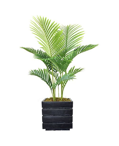 "Laura Ashley 50"" Real Touch Palm Tree in Fiberstone Planter"