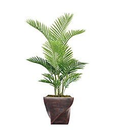 "65.5"" Real Touch Palm Tree in Fiberstone Planter"