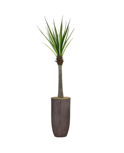 """Laura Ashley 86.25"""" Real Touch Agave in Resin Planter"""