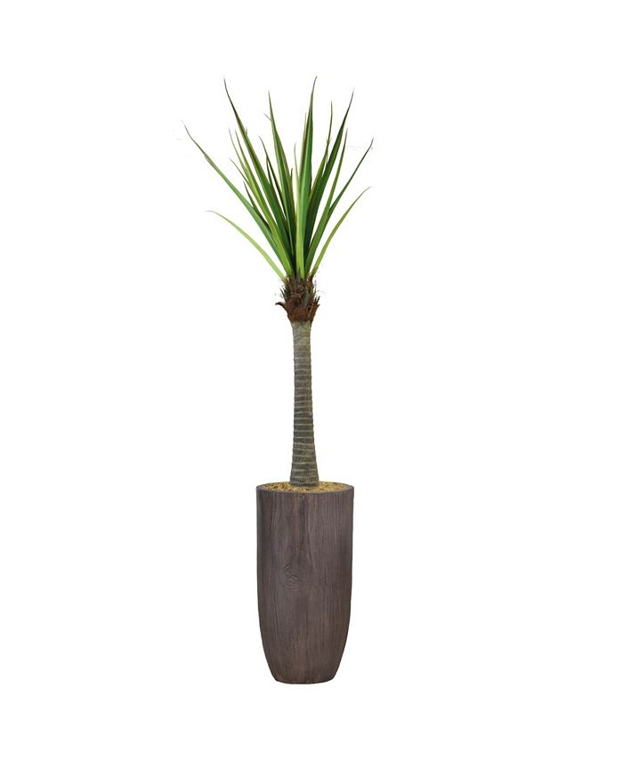 """Vintage Home - Artificial Faux Real Touch 78.25"""" Tall Real Touch Agave And Resin Planter"""