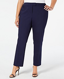 Plus Size Bowie Double-Weave Pants