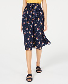 Maison Jules Belted Midi Skirt, Created for Macy's