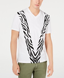 I.N.C. Men's Pieced Zebra T-Shirt, Created for Macy's