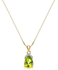 "Peridot (2 ct. t.w.) & Diamond Accent 18"" Pendant Necklace in 14k Gold"